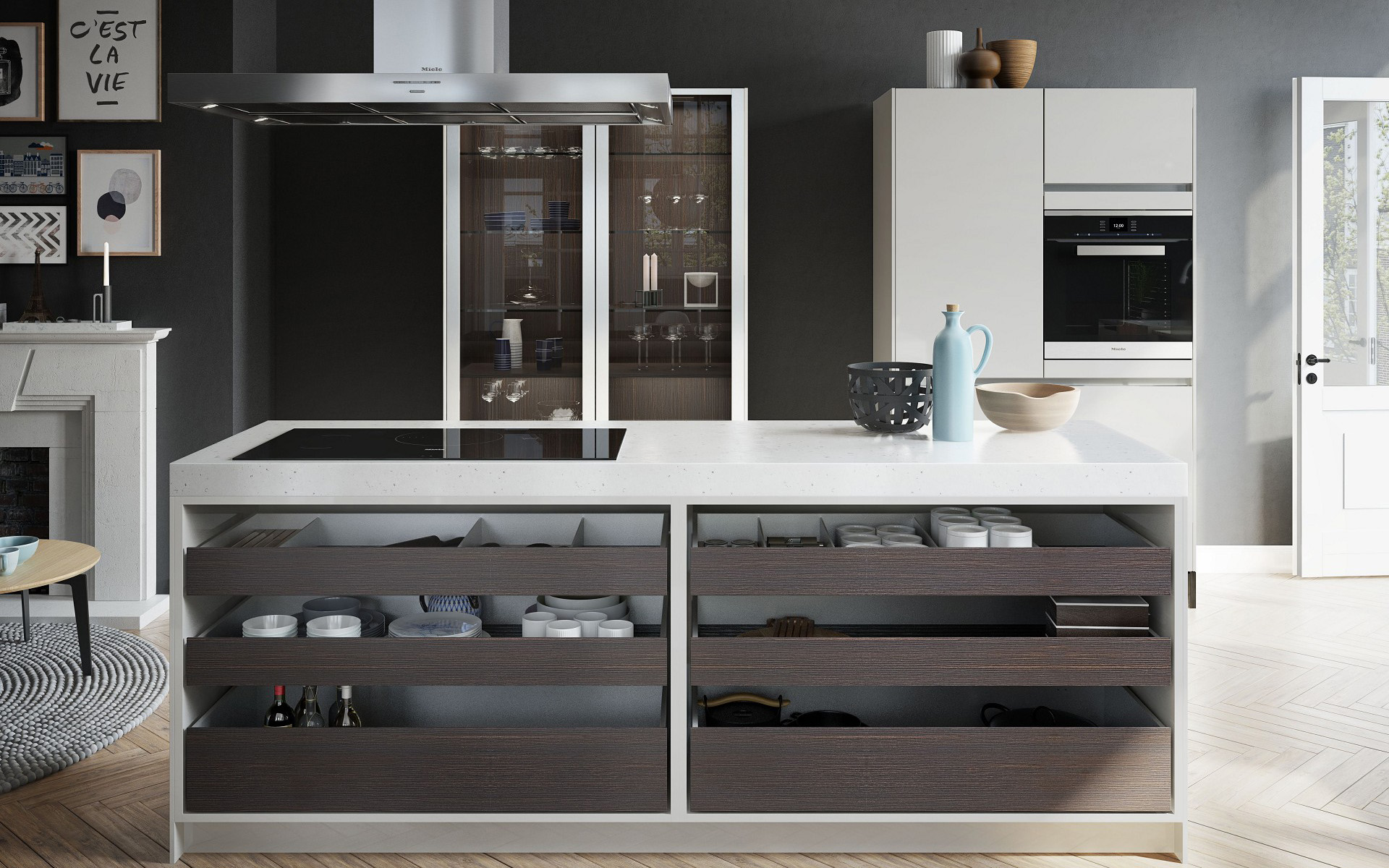 SieMatic kitchen the work center